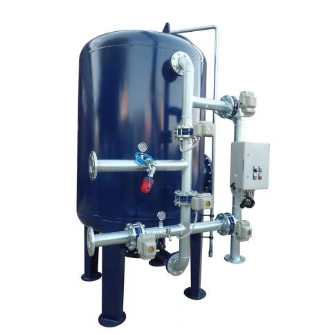 Epoksi boyalı ST-37 tanlı yüzey borulamalı kum filtre sistemleri